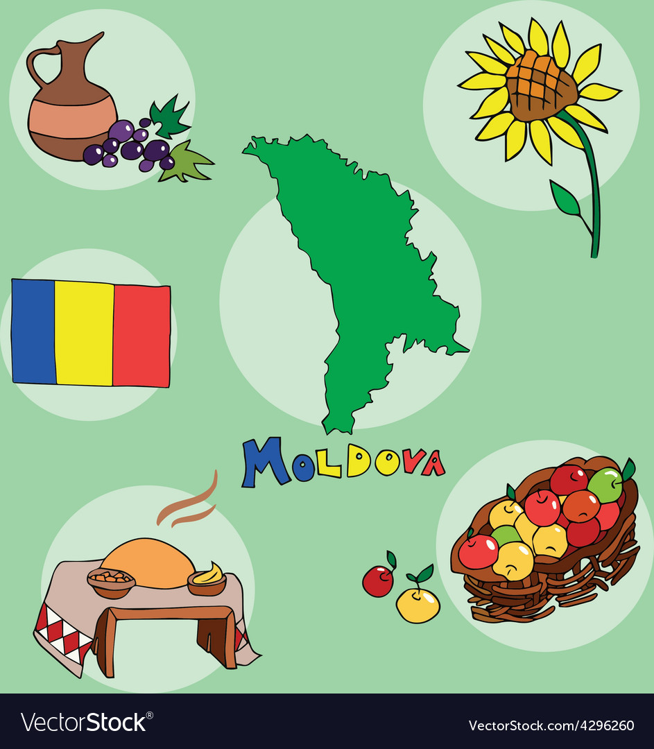 Set of national profile of the moldova vector | Price: 1 Credit (USD $1)