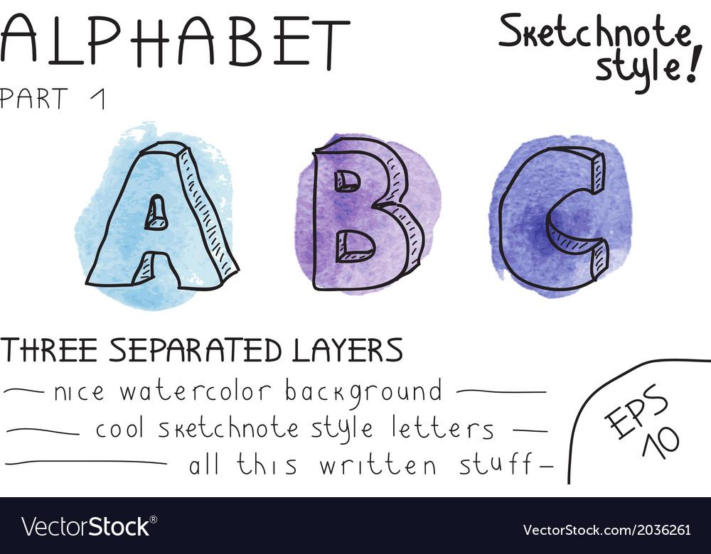 Alphabet - part 1 vector   Price: 1 Credit (USD $1)
