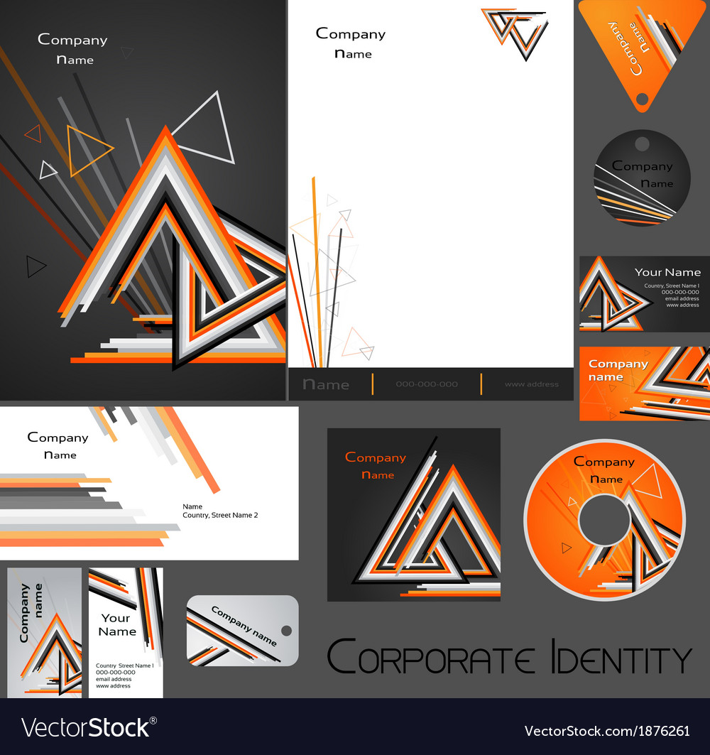 Corporate identity template no 17 1 vector | Price: 1 Credit (USD $1)