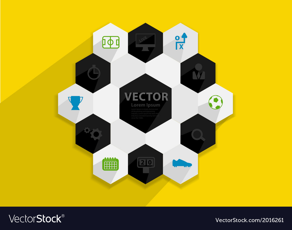 Flat design stylish concept with icons of soccer vector | Price: 1 Credit (USD $1)