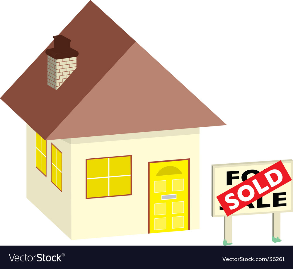 House sold vector | Price: 1 Credit (USD $1)