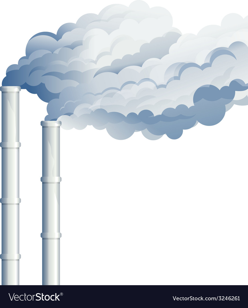 Industrial chimney smoke vector | Price: 1 Credit (USD $1)