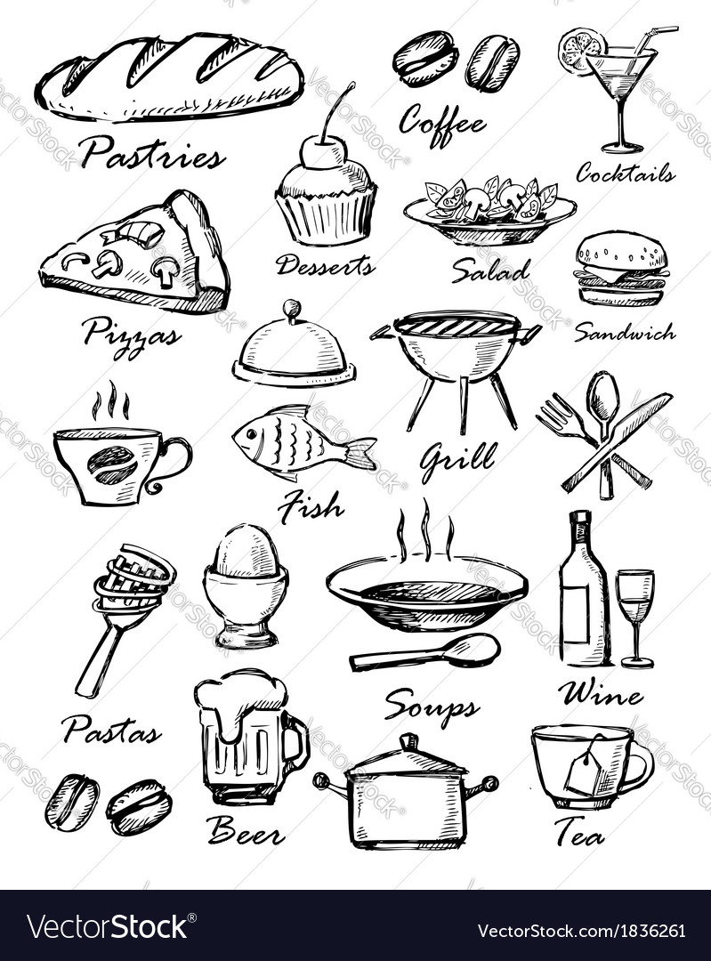 Menu icons vector | Price: 1 Credit (USD $1)