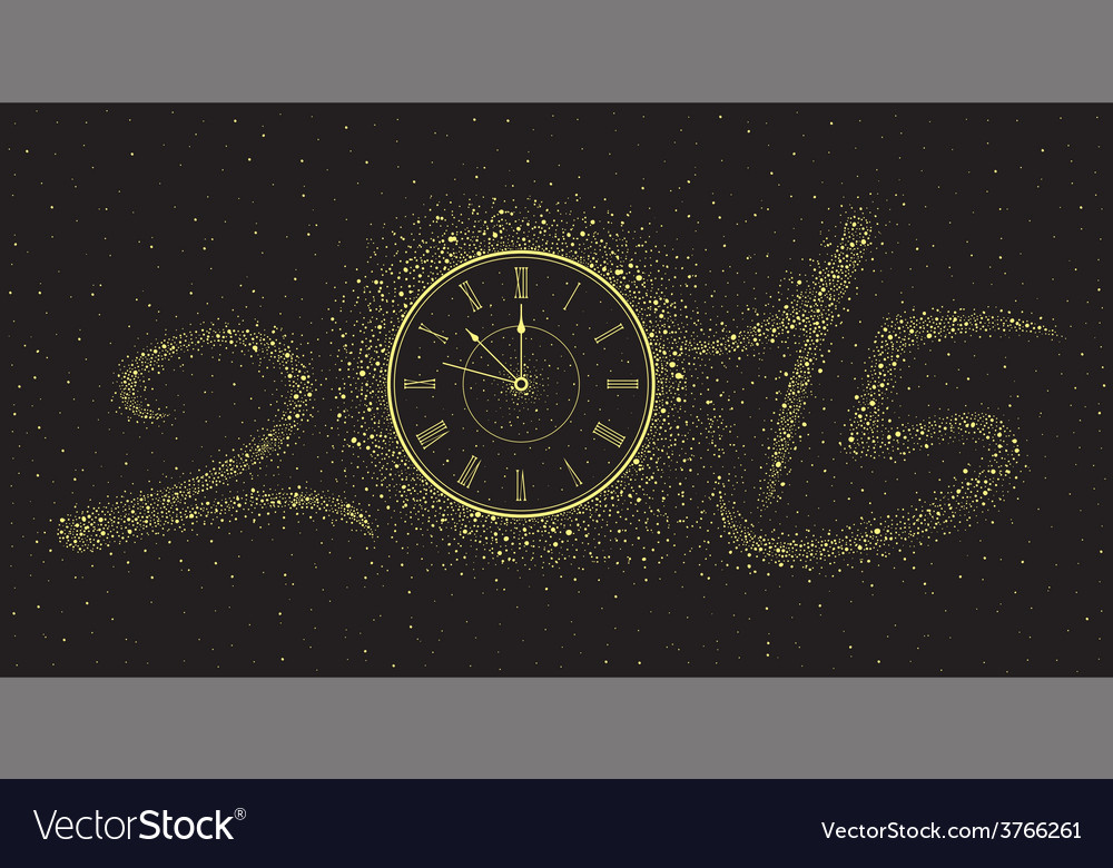 New year clock vector | Price: 1 Credit (USD $1)