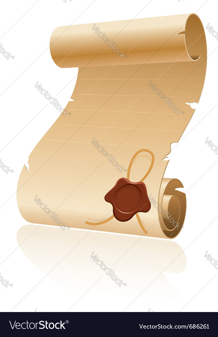 Old scroll paper vector | Price: 3 Credit (USD $3)