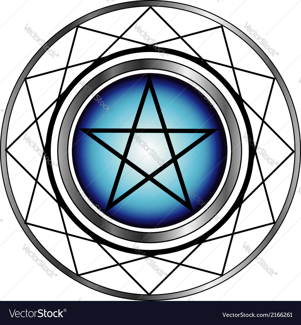 Pentacle symbol vector | Price: 1 Credit (USD $1)
