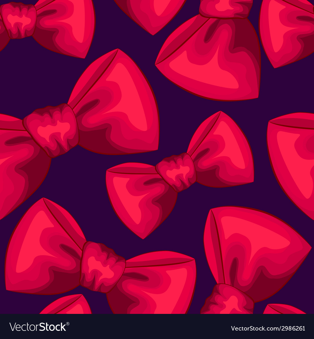 Red bows seamless pattern vector | Price: 1 Credit (USD $1)