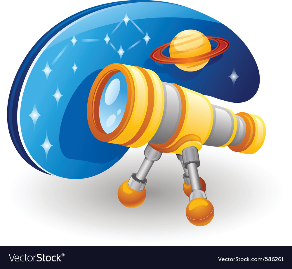 Telescope cartoon vector | Price: 1 Credit (USD $1)