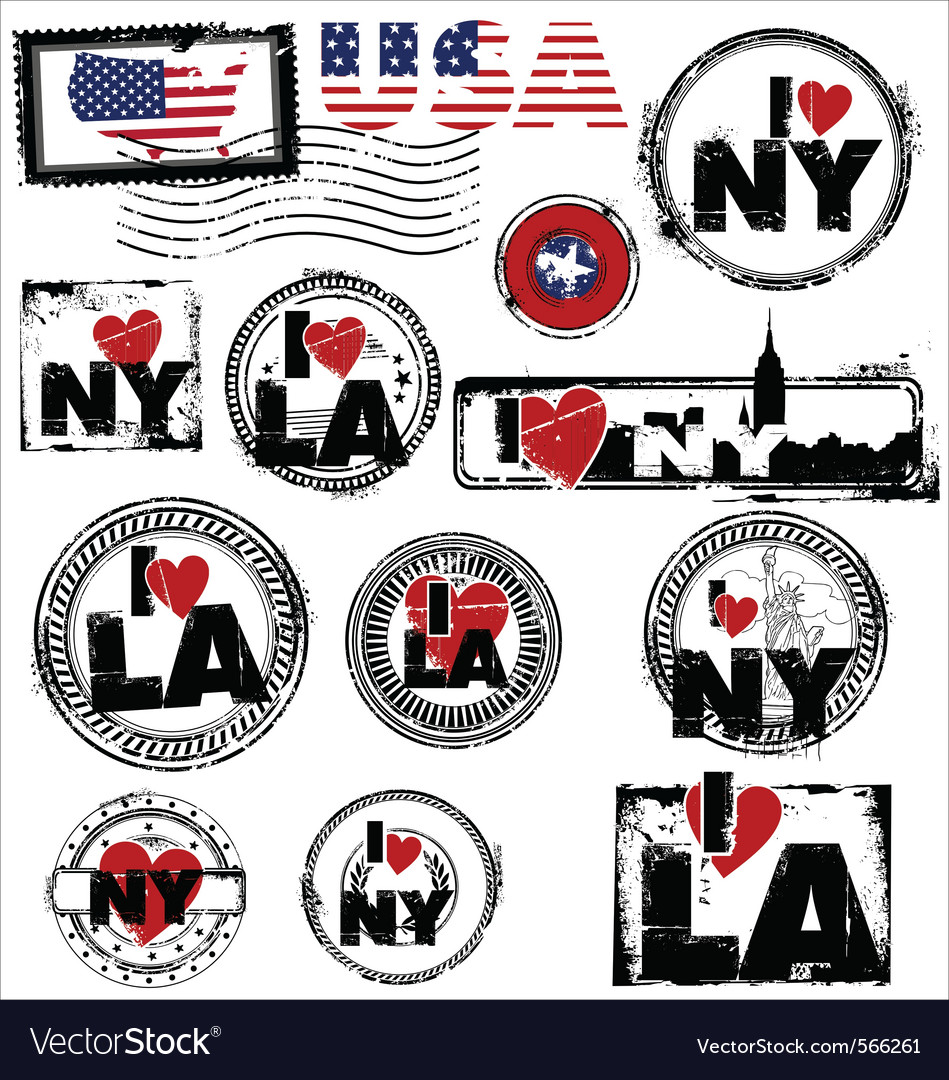 Usa stamps vector | Price: 1 Credit (USD $1)