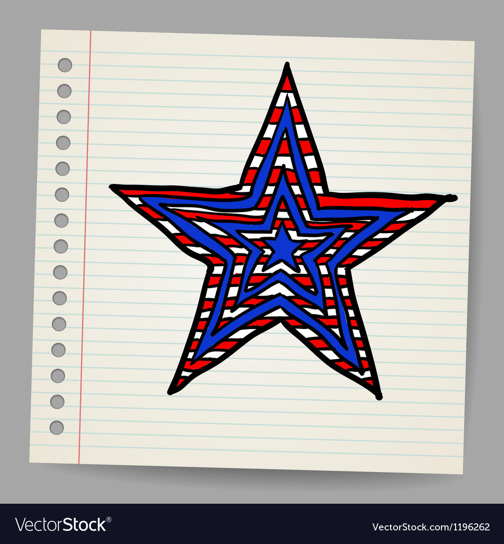 The 4th july independence day star vector | Price: 1 Credit (USD $1)