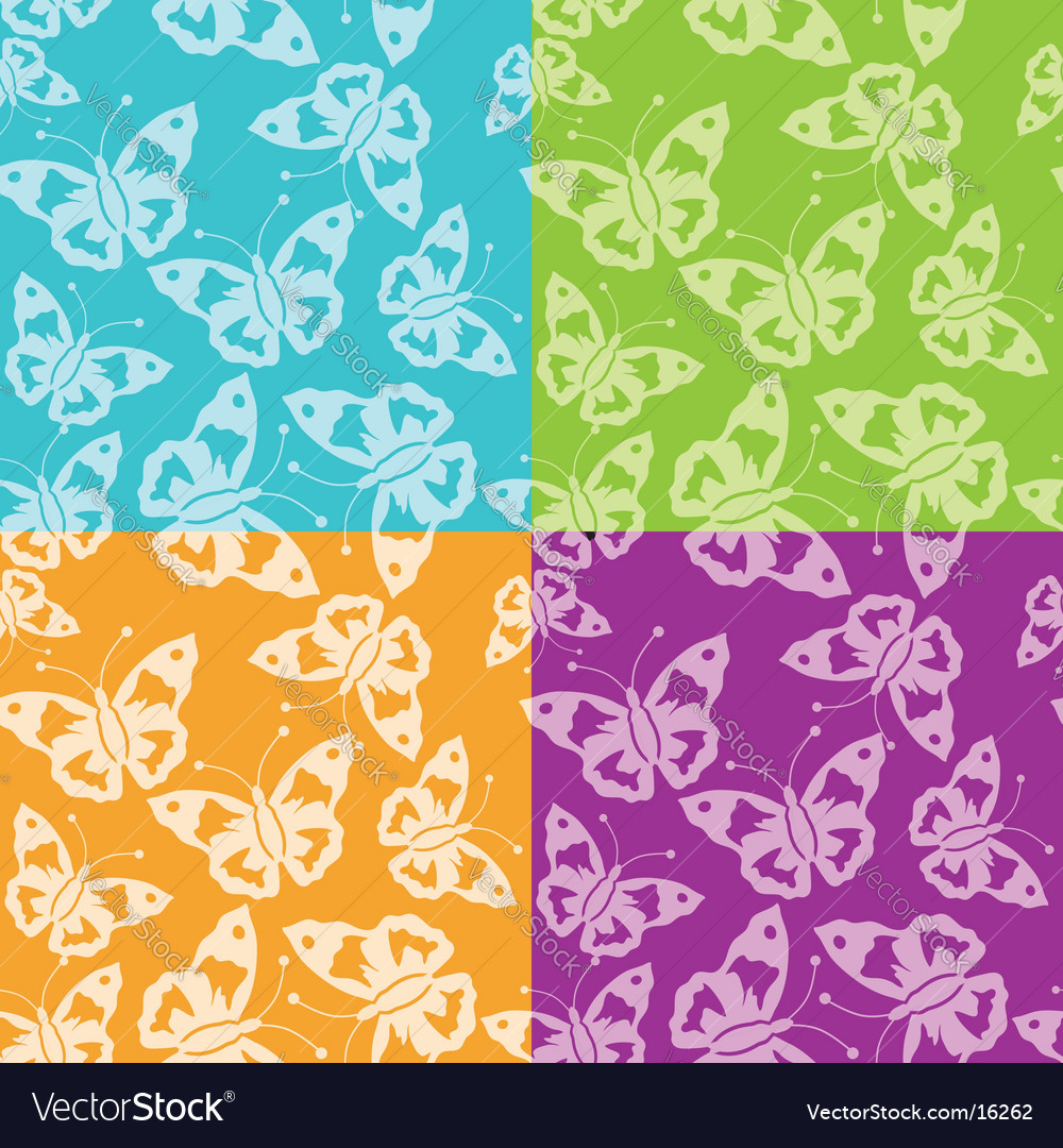 Abstract butterfly pattern seamless vector | Price: 1 Credit (USD $1)