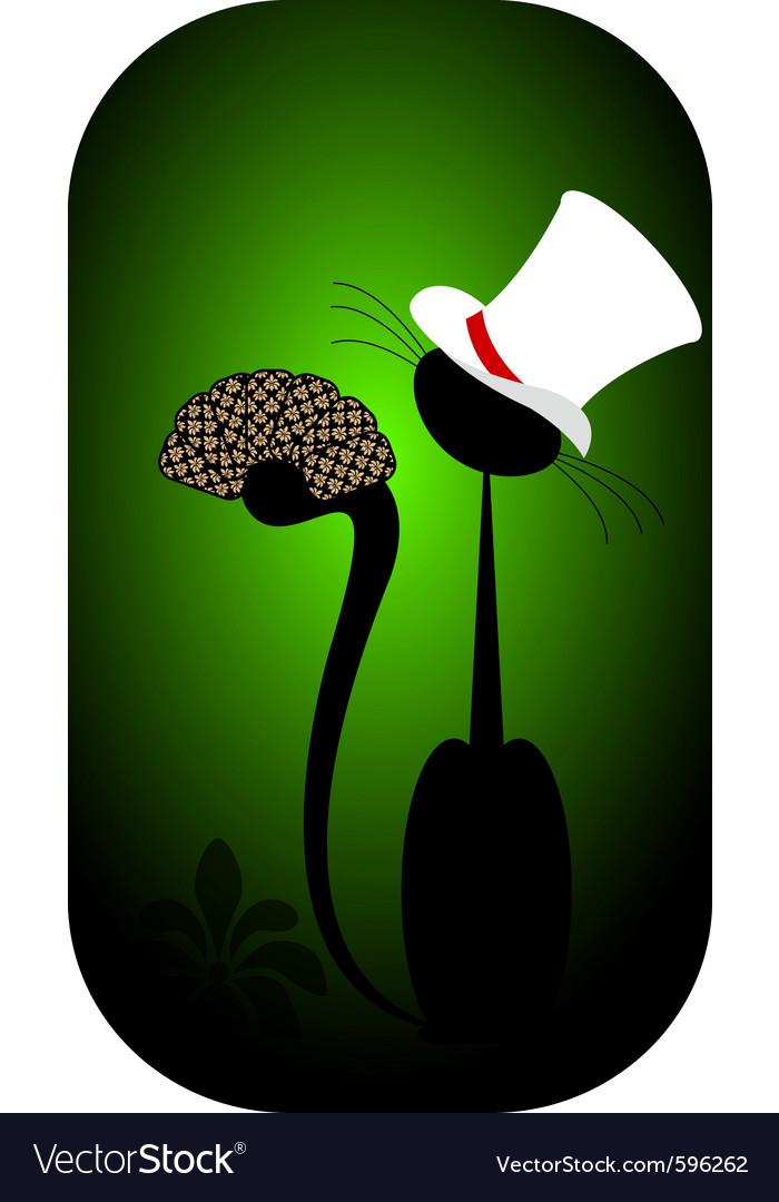 Black cat poker vector | Price: 1 Credit (USD $1)