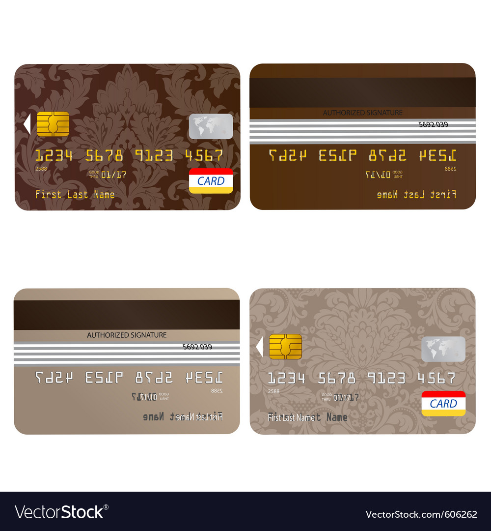 Credit card set vector | Price: 1 Credit (USD $1)