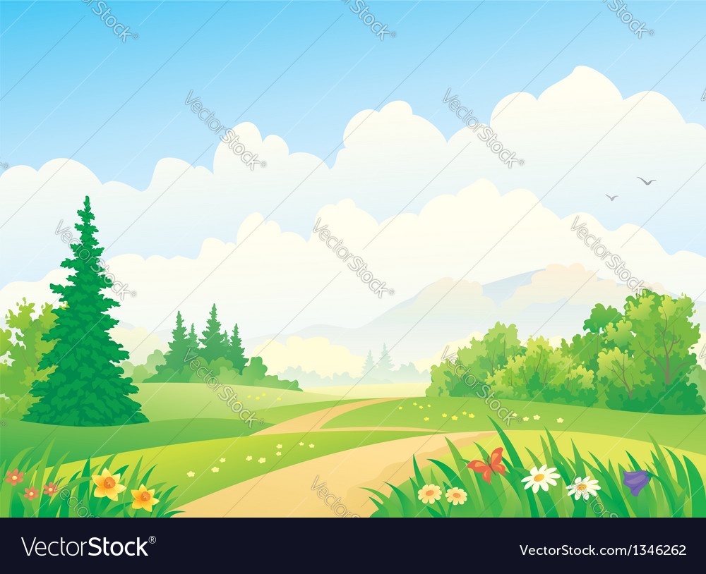 Forest landscape vector | Price: 3 Credit (USD $3)