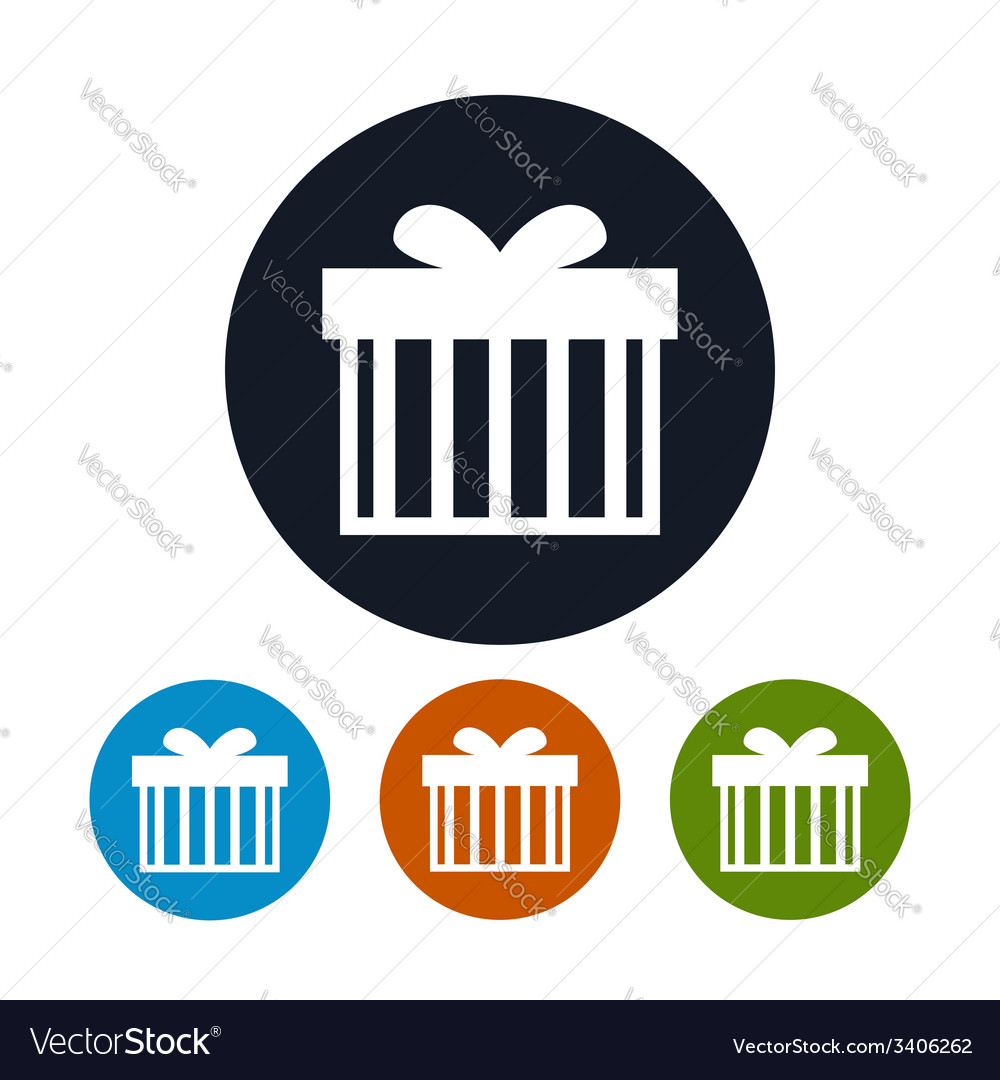 Gift box icon vector | Price: 1 Credit (USD $1)