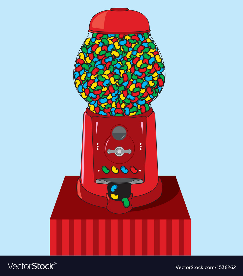 Jelly bean dispenser vector | Price: 1 Credit (USD $1)
