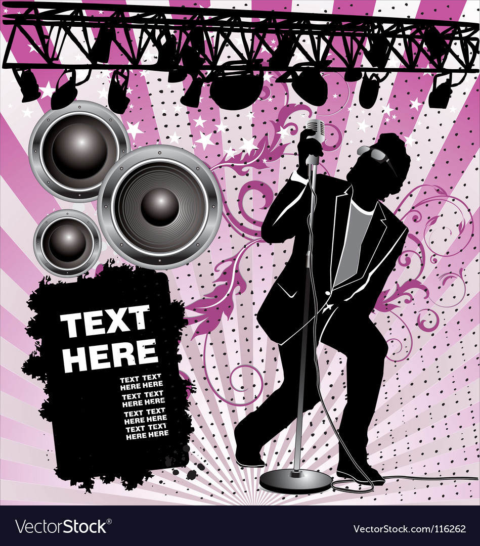 Rock singer vector | Price: 1 Credit (USD $1)