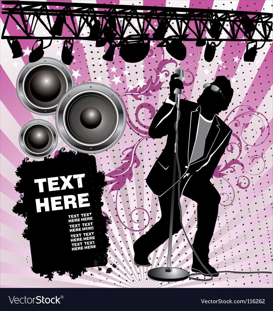 Rock singer vector | Price: 1 Credit (USD $1)
