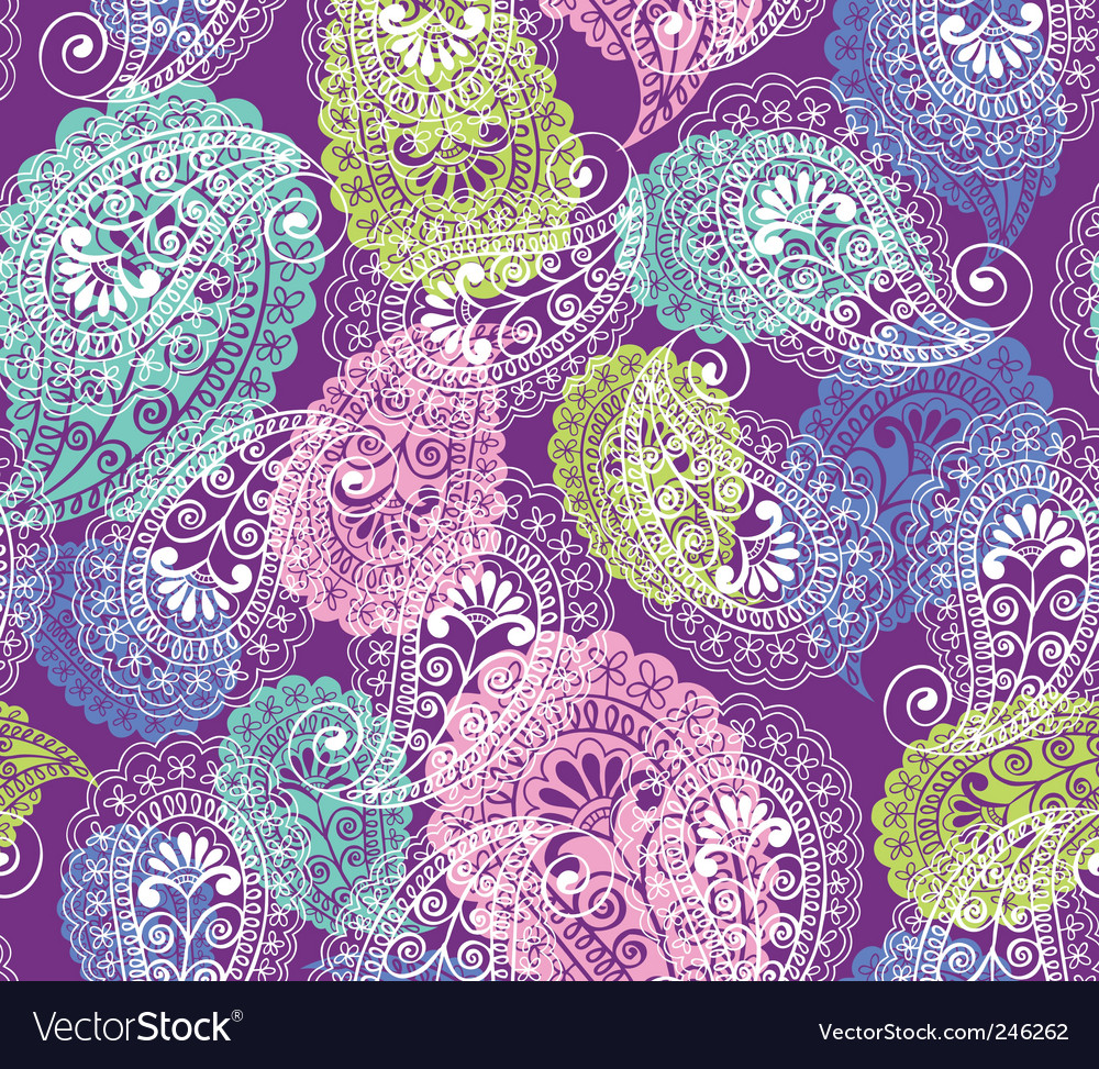 Soft paisley vector