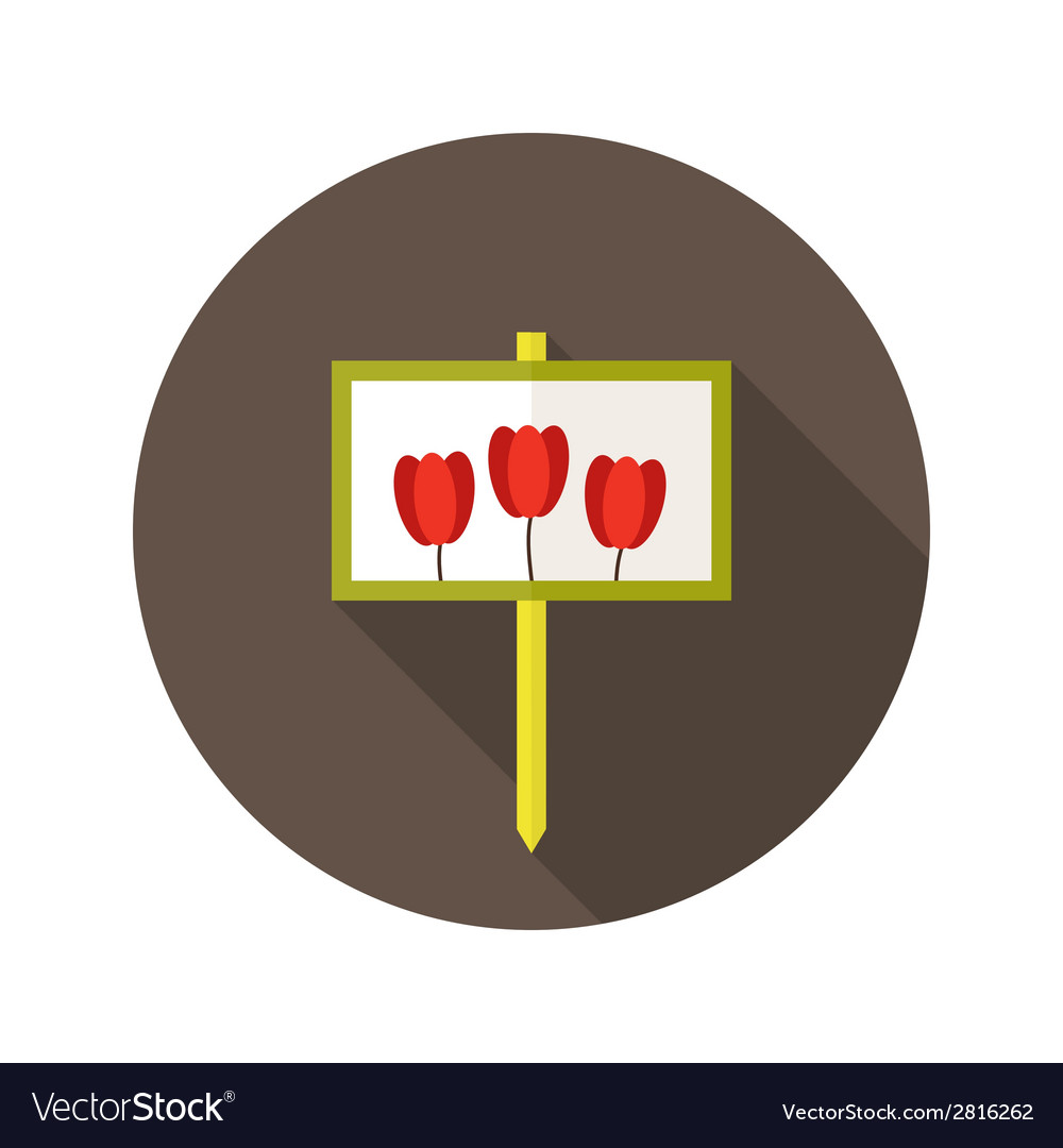 Tulip flowers sign flat icon vector | Price: 1 Credit (USD $1)
