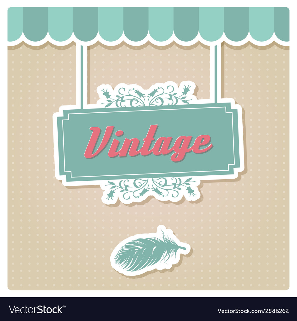 Vintage retro insignia stamp label badge vector | Price: 1 Credit (USD $1)