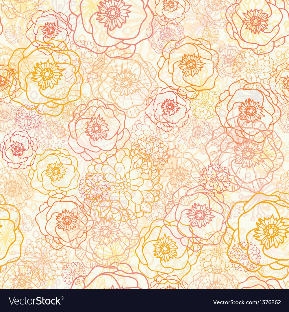 Warm flowers seamless pattern background vector | Price: 1 Credit (USD $1)