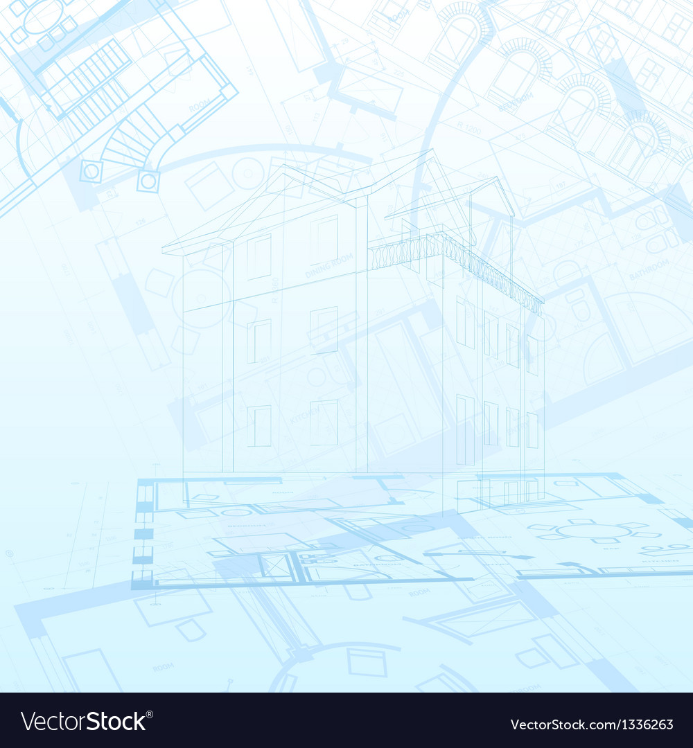 Abstract architectural background vector | Price: 1 Credit (USD $1)