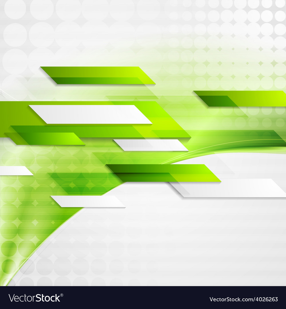 Abstract green tech wavy background vector | Price: 1 Credit (USD $1)