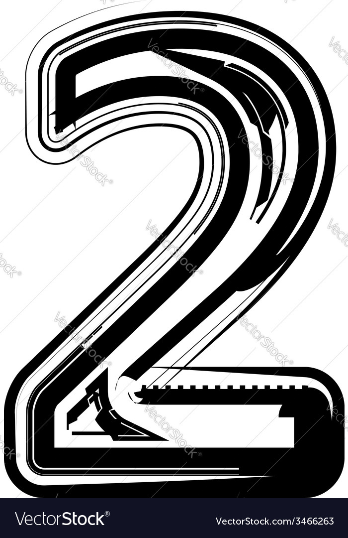 Abstract number 2 vector | Price: 1 Credit (USD $1)
