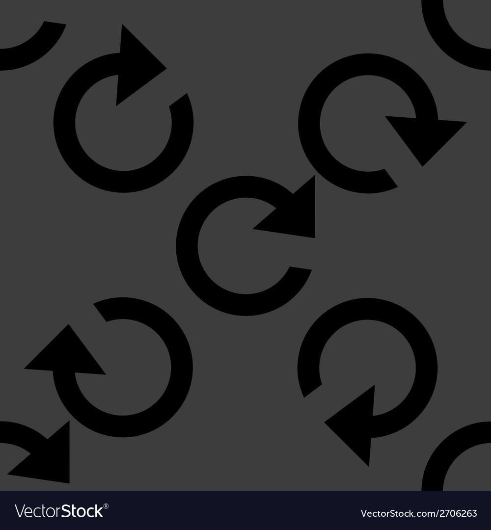 Arrow update web icon flat design seamless pattern vector   Price: 1 Credit (USD $1)