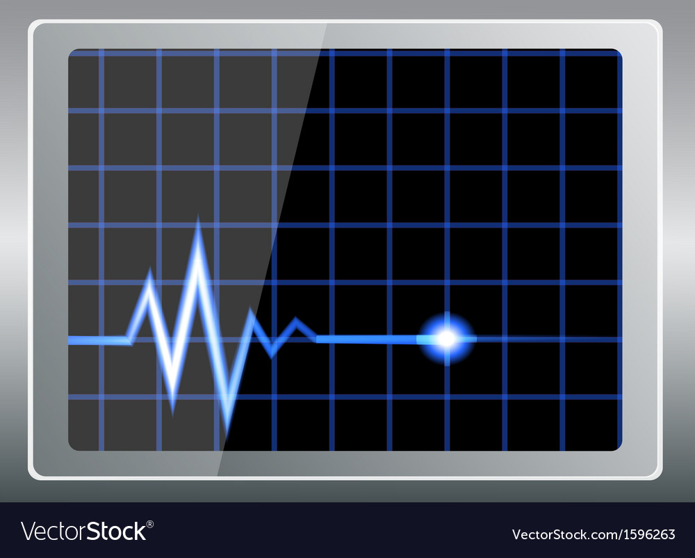 Cardiogram on the screen vector   Price: 1 Credit (USD $1)