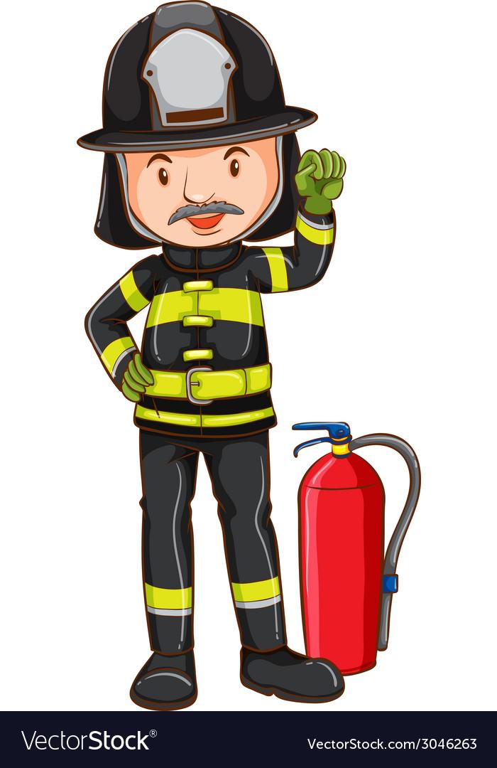 Fireman vector | Price: 1 Credit (USD $1)