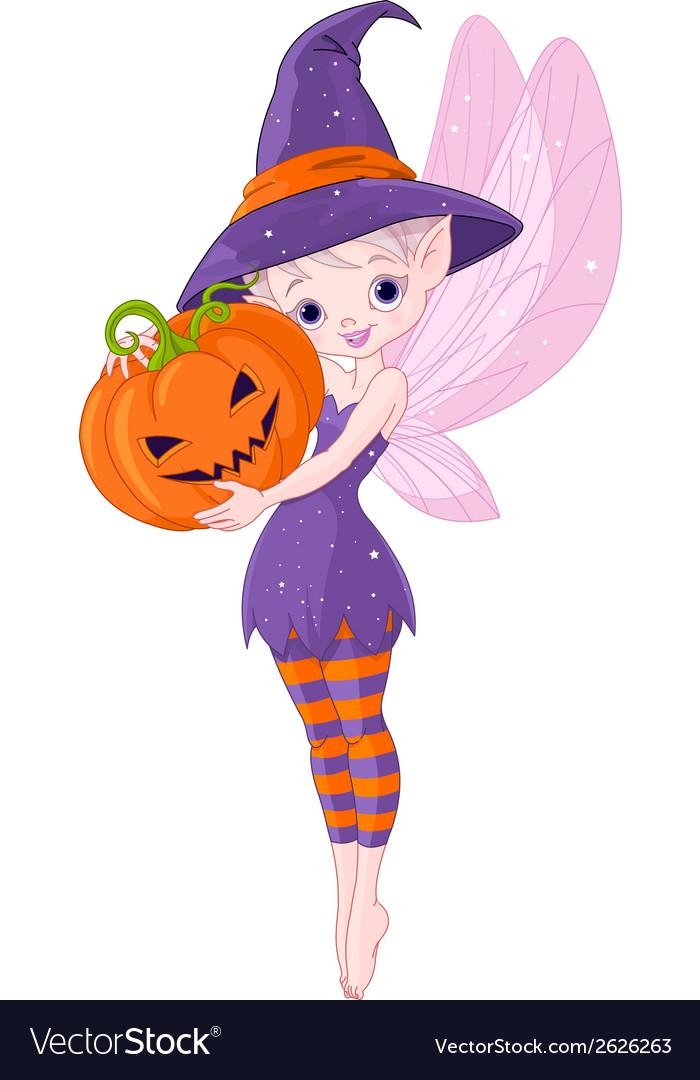 Halloween fairy vector   Price: 1 Credit (USD $1)