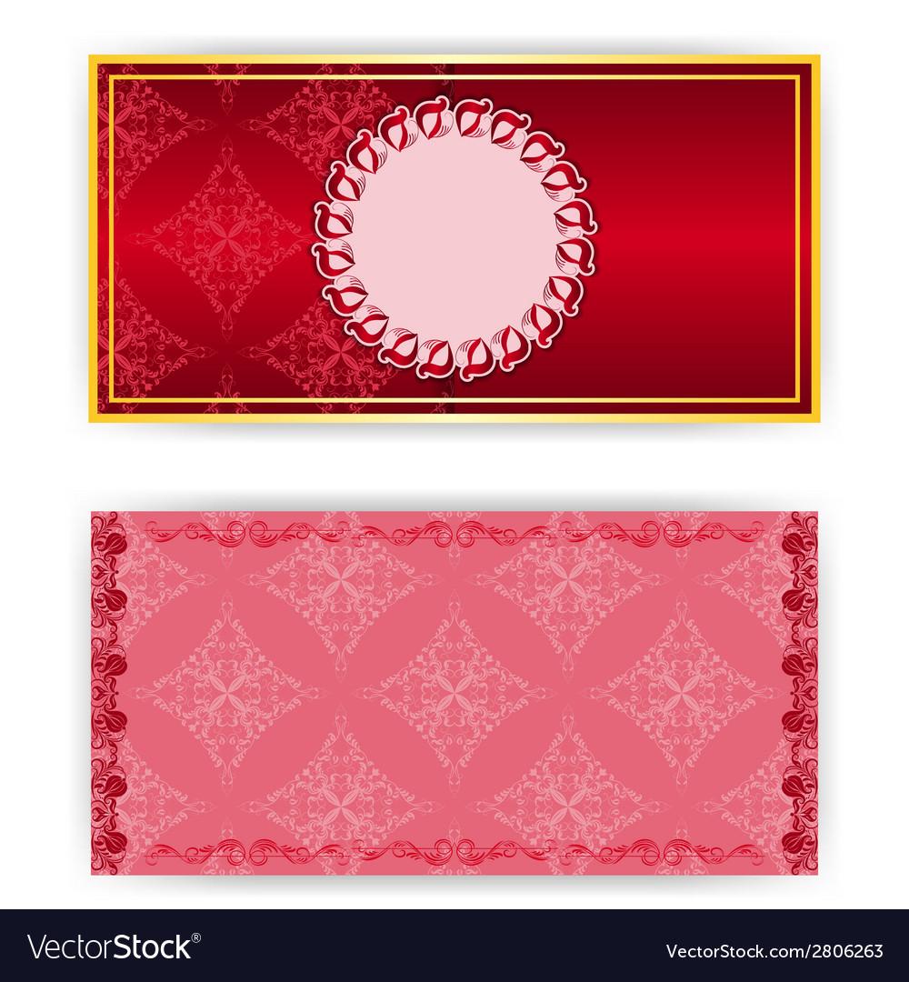 Lace template invitation card vector | Price: 1 Credit (USD $1)
