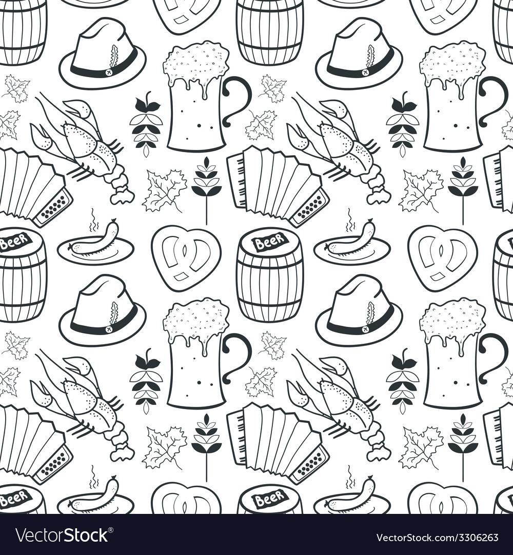 Oktoberfest seamless pattern vector | Price: 1 Credit (USD $1)