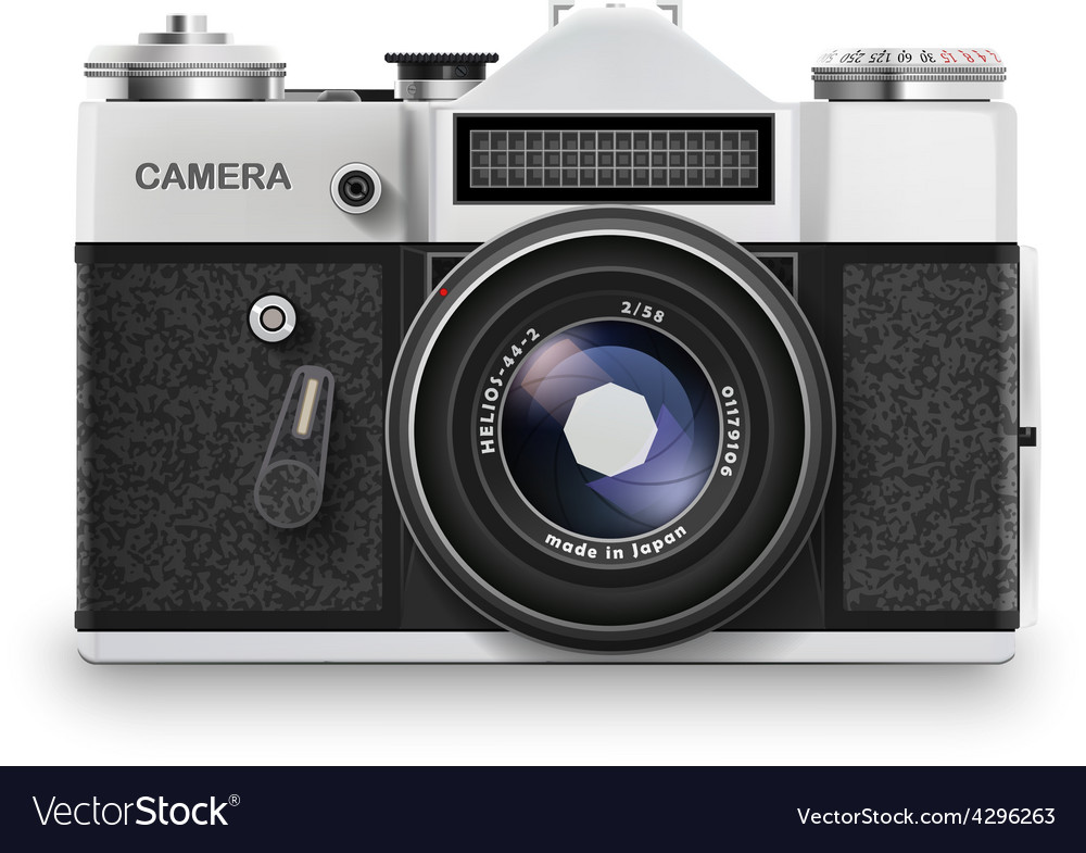Old photo camera vector | Price: 1 Credit (USD $1)