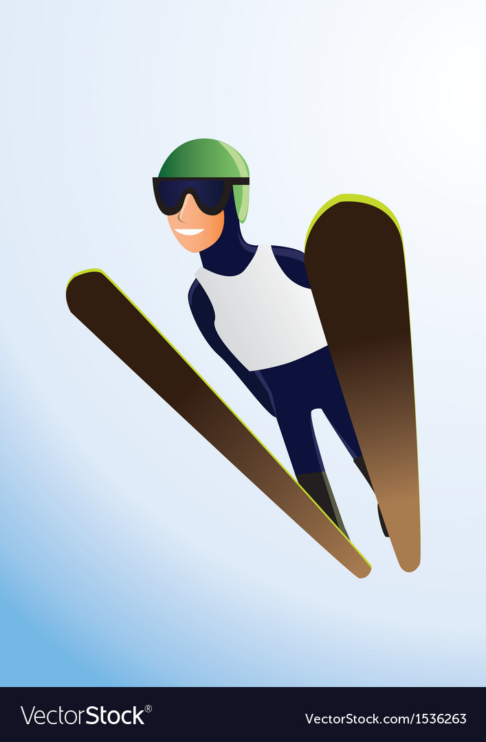 Olympic ski jumper vector | Price: 1 Credit (USD $1)