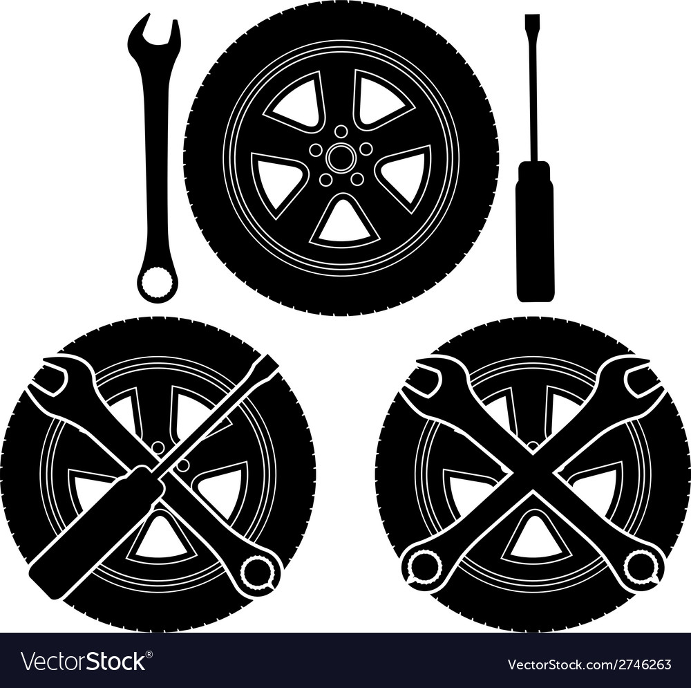 Signs of auto repair vector | Price: 1 Credit (USD $1)