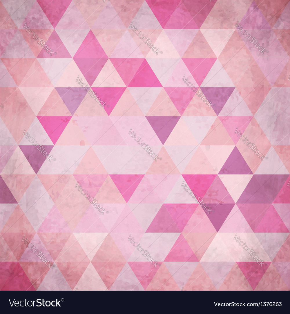 Textured vintage pink triangles background vector | Price: 1 Credit (USD $1)