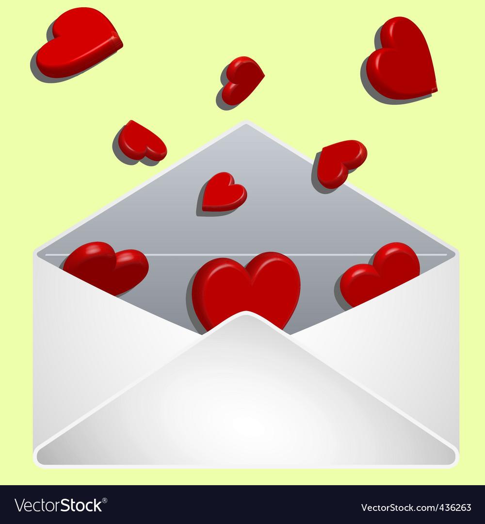 Valentine's envelope vector | Price: 1 Credit (USD $1)