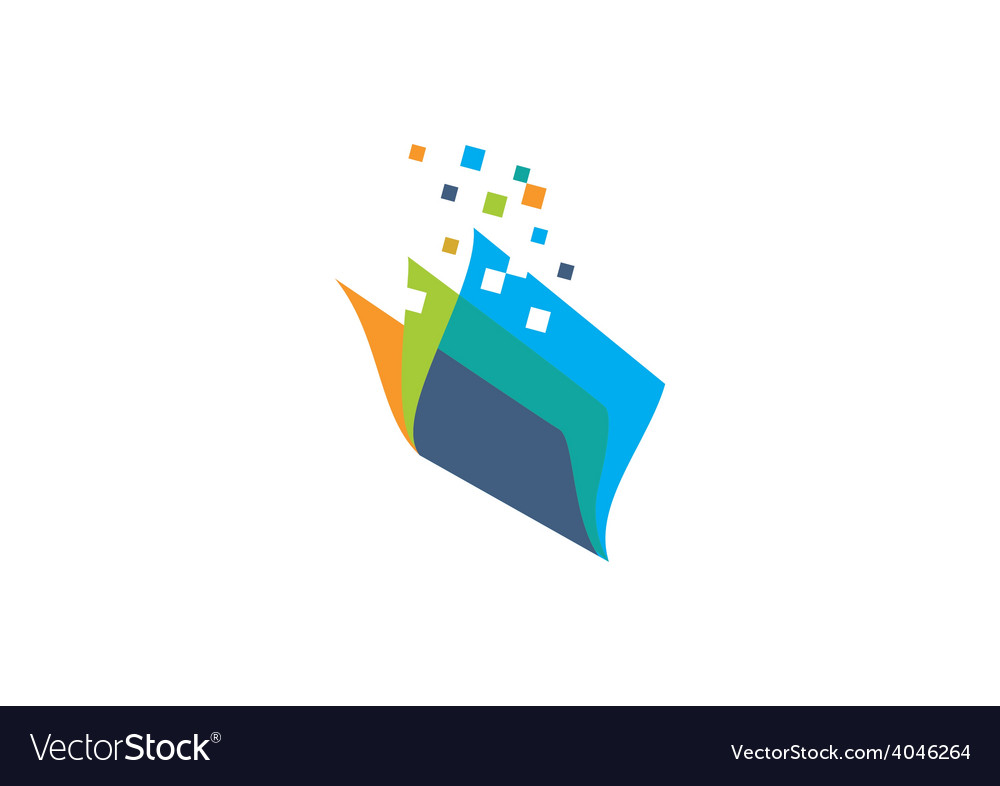 Book paper technology logo vector   Price: 1 Credit (USD $1)