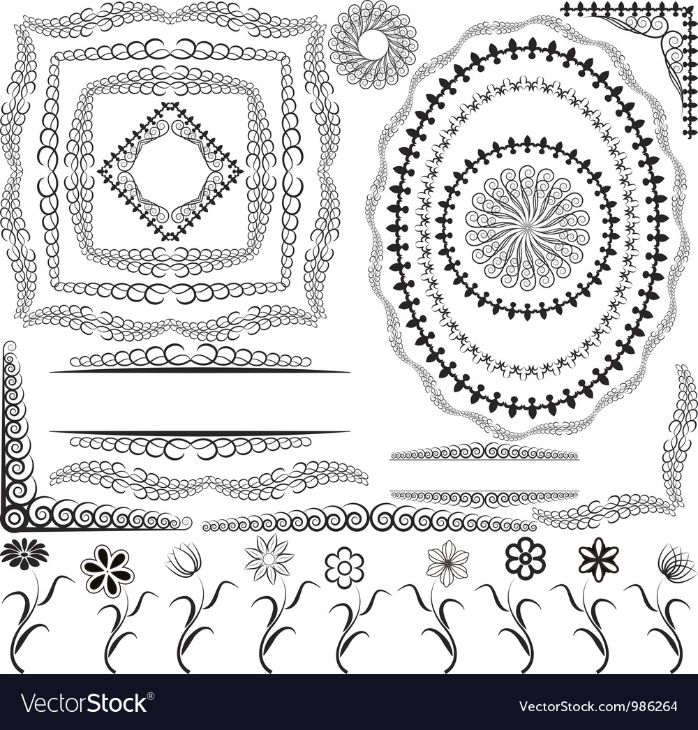 Borders frames and ornaments vector | Price: 1 Credit (USD $1)
