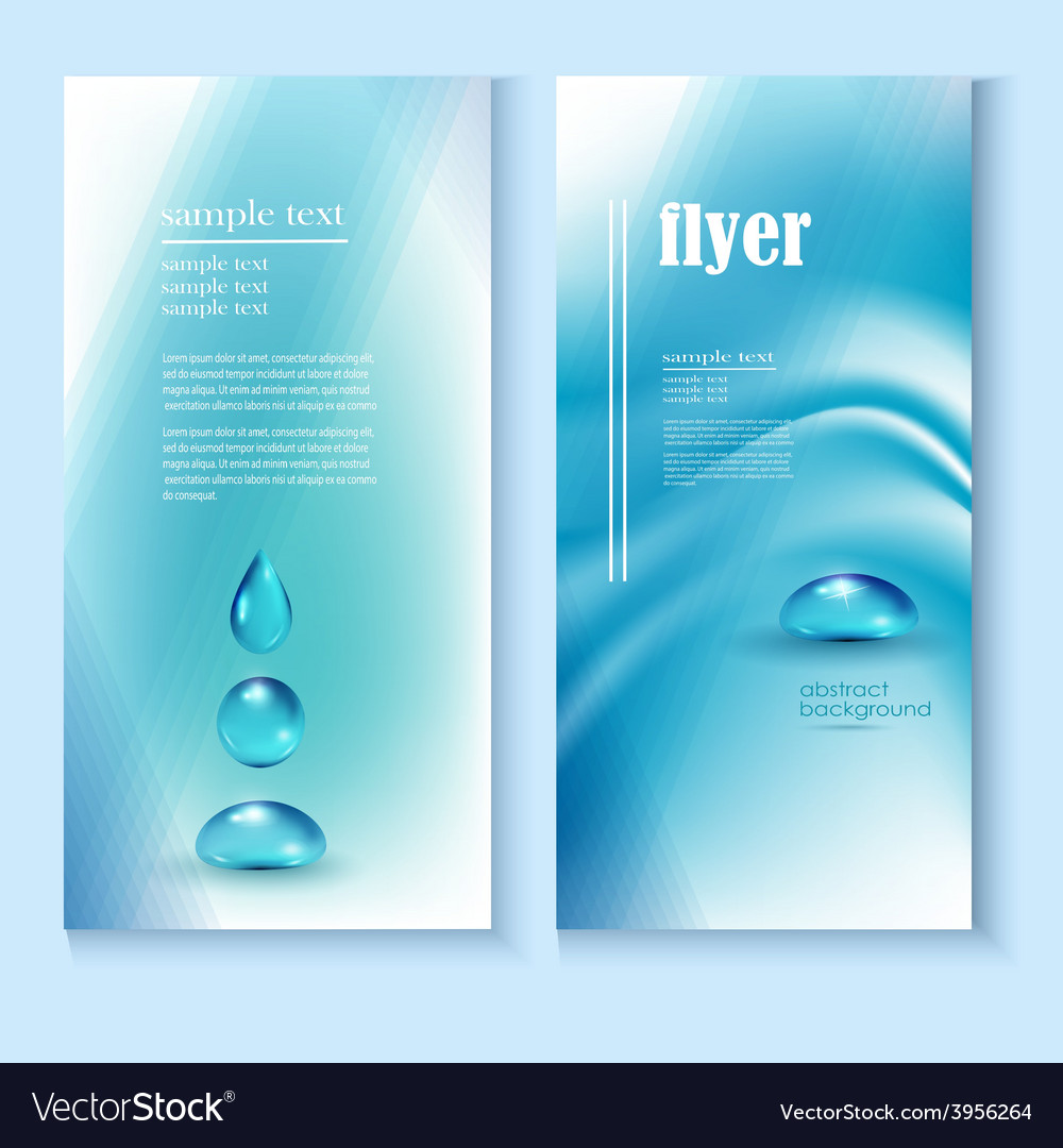 Flyer template with a blue background and the vector | Price: 1 Credit (USD $1)