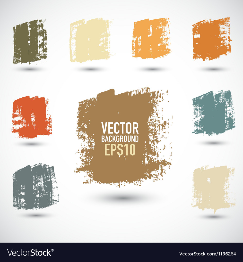 Grunge colorful squares vector | Price: 1 Credit (USD $1)