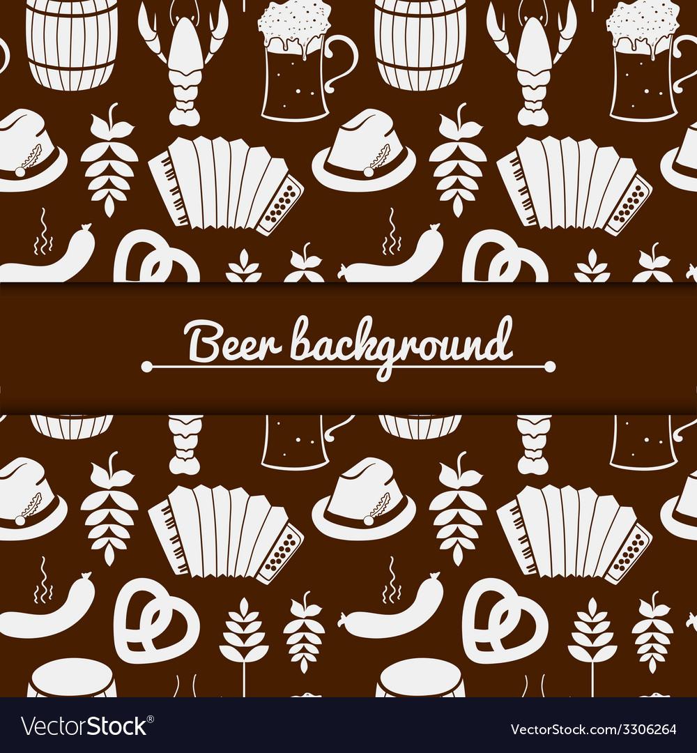 Oktoberfest monochrome background vector | Price: 1 Credit (USD $1)