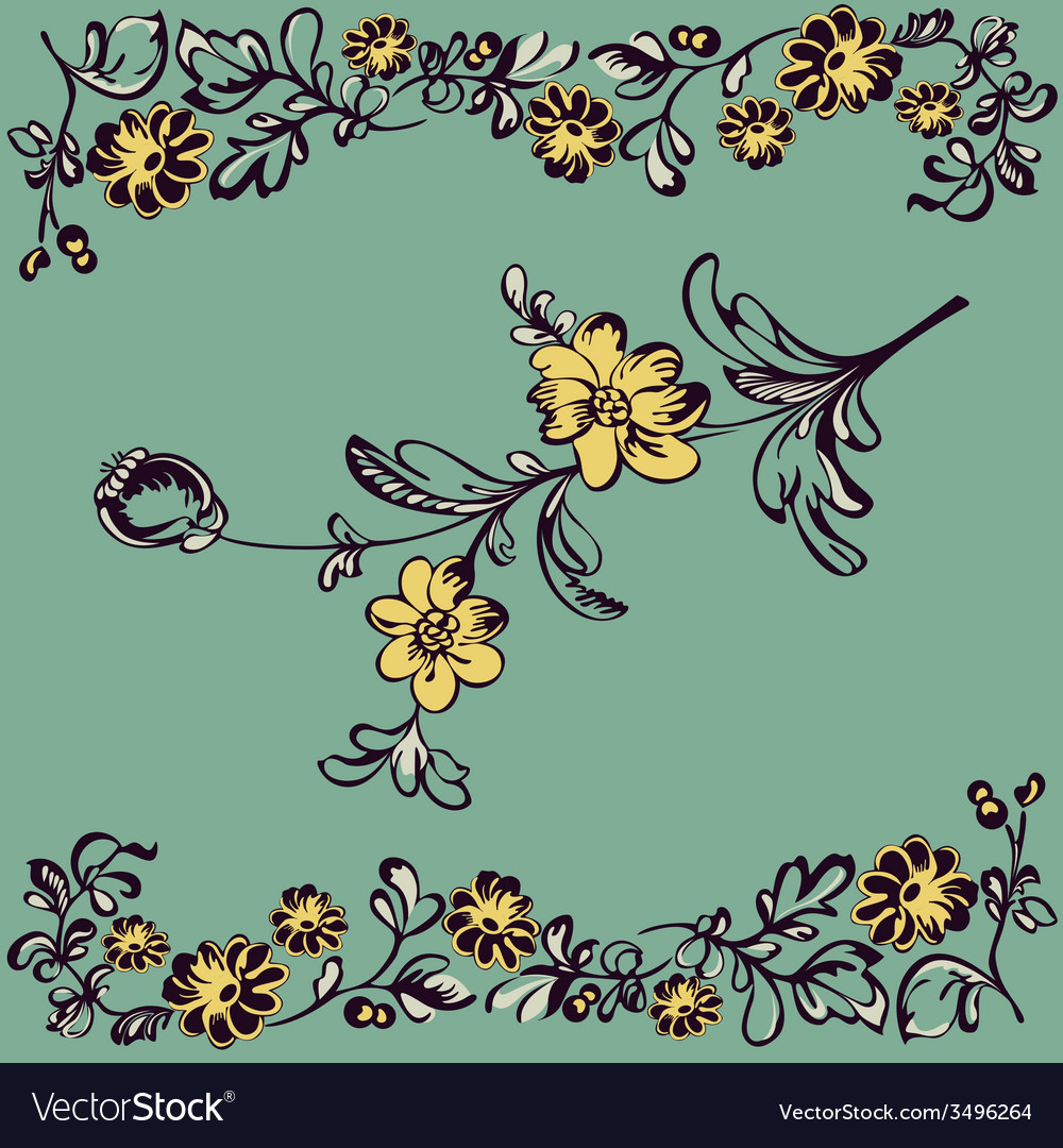 Pattern flower vector | Price: 1 Credit (USD $1)