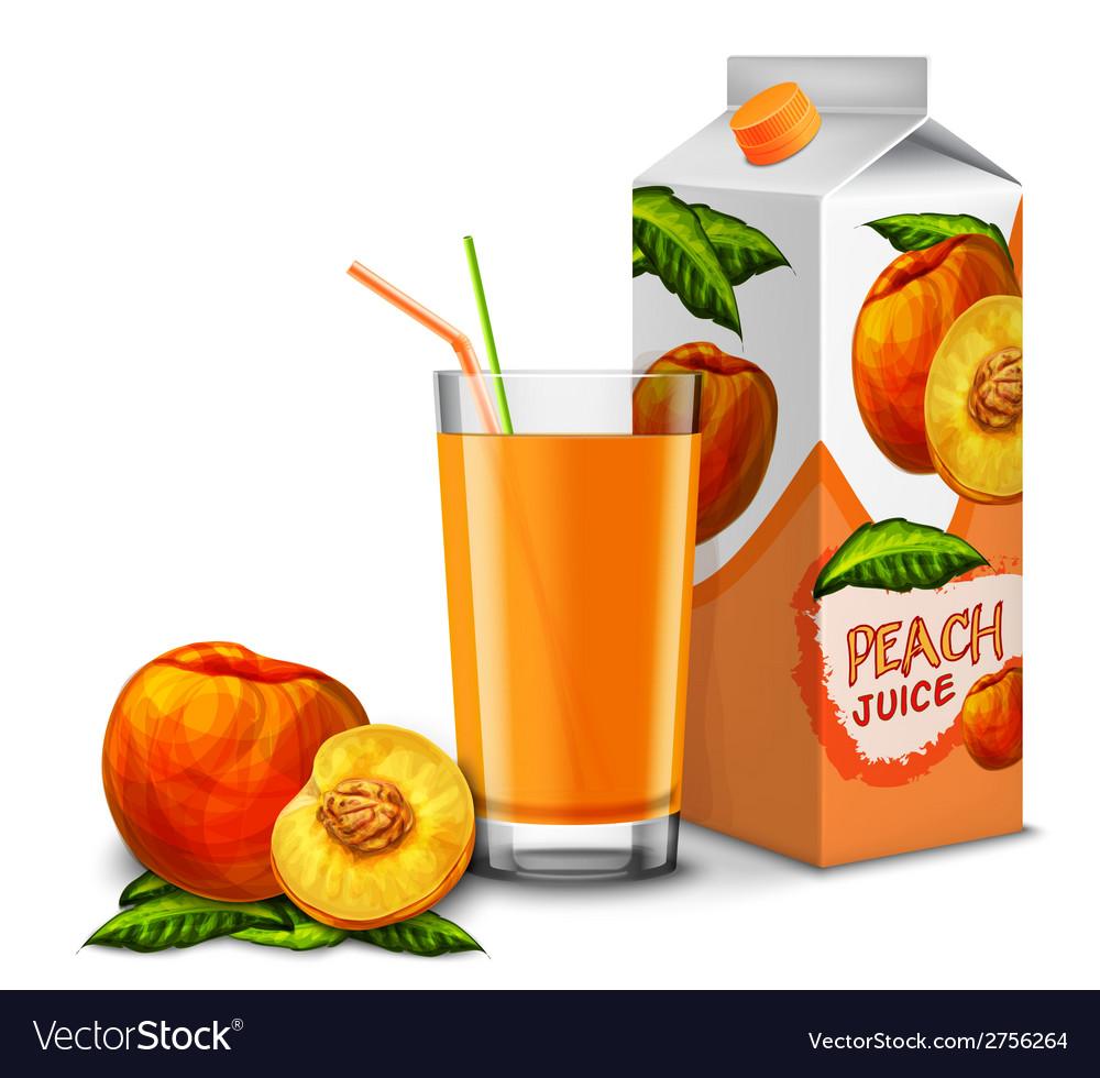Peach juice set vector | Price: 1 Credit (USD $1)