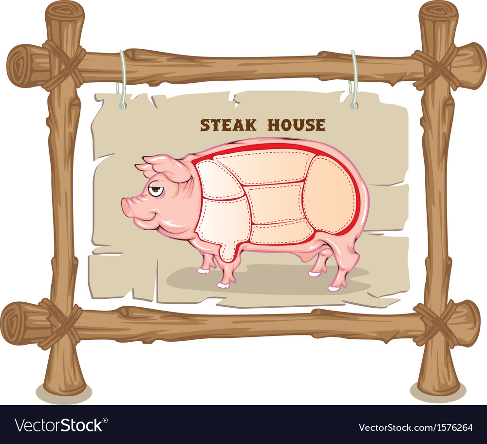 Pig section vector | Price: 1 Credit (USD $1)