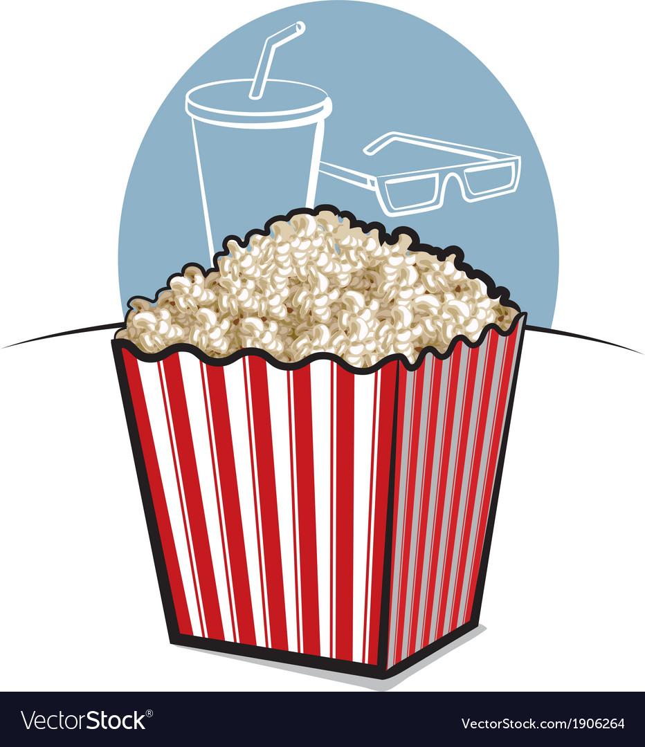 Popcorn vector | Price: 3 Credit (USD $3)
