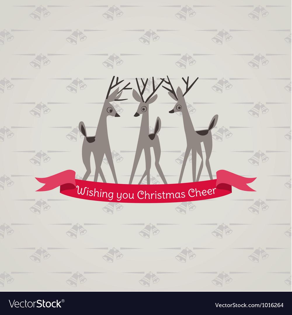 Retro christmas card vector | Price: 1 Credit (USD $1)